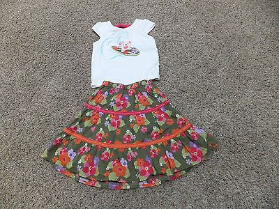 Gymboree toddler girl 2T top & matching maxi skirt EUC