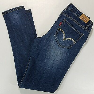 Levi's denim legging girl's jeans, size 16, adjustable waist, distressed wash