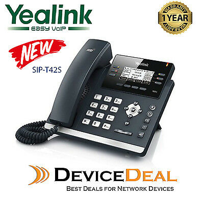 Yealink SIP-T42S  Ultra-elegant 12 Line IP Phone Dual Gigabit, New Model of T42G