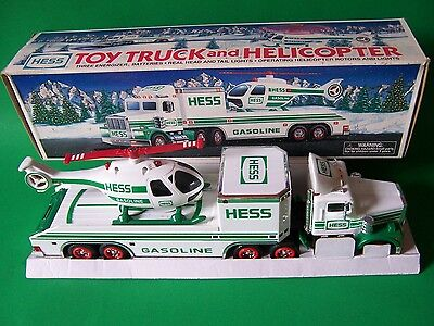 Collectible 1995 HESS Toy Truck and Helicopter , New in Box