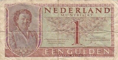 1949 Netherlands 1 Gulden Note, Pick 72