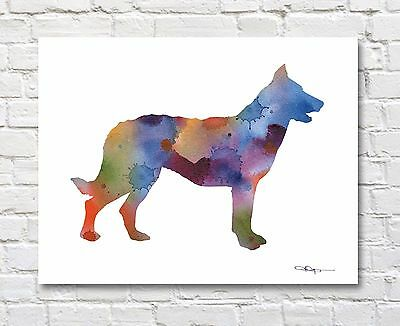 BEAUCERON Abstract Contemporary Watercolor ART 11 x 14 Print by DJR