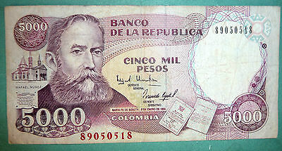 Colombia Columbia 5000 5 000 Peso Note , P 440, Issued 03.01. 1994