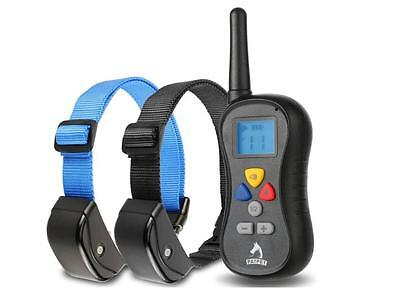 Patpet 330 Yards Remote Training Collar for TWO Dogs. Vibration, Shock and Sound