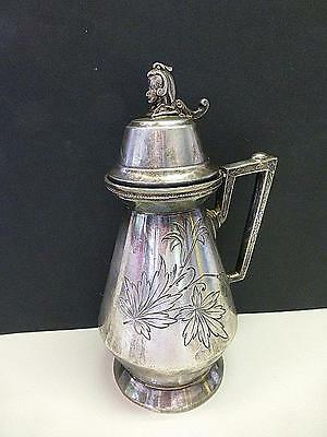 Victorian Aesthetic SPHINX Aurora Silverplate Syrup Pitcher EGYPTIAN REVIVAL