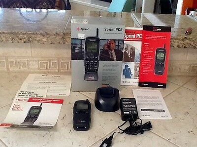 Vintage SPRINT PCS Touch Point Dual -Band Cell Phone, Flip, Complete in Box
