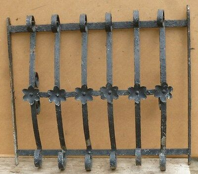 Antique Wrought Iron WINDOW GATE - Architectural Salvage - 26-3/4""