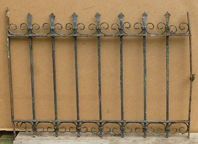 """Antique Wrought Iron WINDOW GATE Guard - Architectural Salvage - 33½"""""""