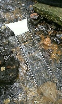 "GOLD PANNING SLUICE BOX 41""×8"" W/hog matting free shipping in the lower 48"