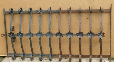 """Antique Wrought Iron WINDOW GATE Guard - Architectural Salvage - 35"""""""
