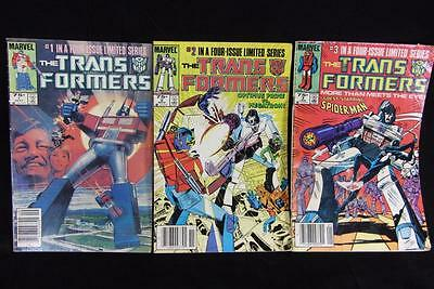 Lot of 3 Marvel The Transformers Comic 1984 # 1 & 2  1985 # 3