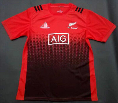 New Zealand 2017 RED All Blacks rugby jersey Shirt tee SIZE: S-3XL