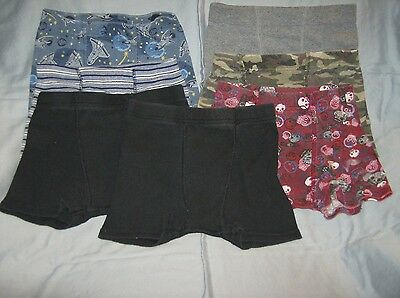 used clean youth boys no-fly boxer briefs underwear 7 pairs size 6/8 Hanes brand