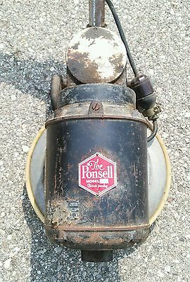 Early Electric Scrubber Buffer Ponsell Floor Machine Co. Q11 Type 40