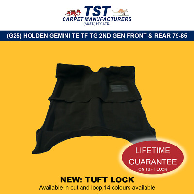 Moulded Car Carpets (G25) Holden Gemini Te Tf Tg 2Nd Gen Front & Rear 79-85