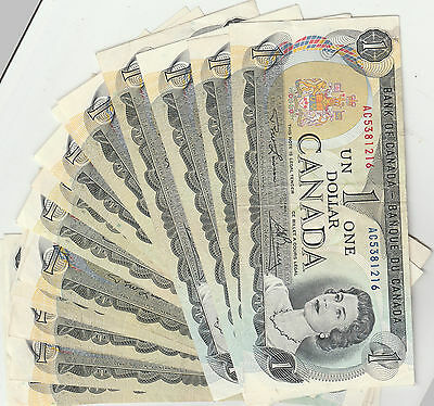 canada $1.00 notes 18 available
