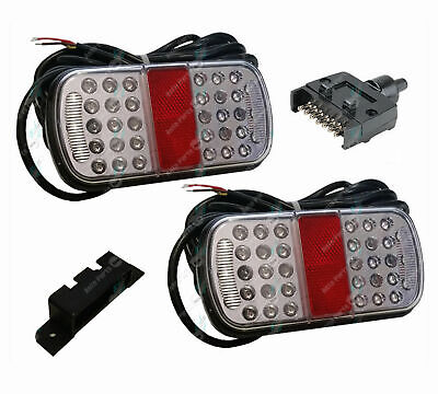 LED Trailer Tail Lights Kit Stop Tail Indicator ADR Approved Submersible 10-30v