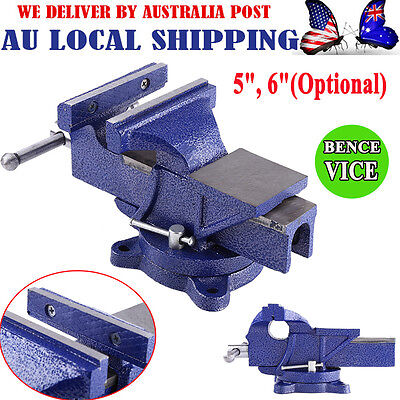 "2017 Table Bench Vice Grip Clamp 5'' 6"" inch Heavy Duty Steel Mechanic Workshop"