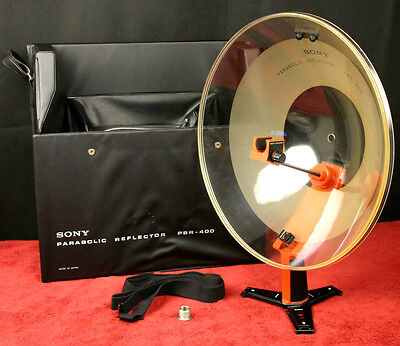 RARE SONY PBR-400 Parabolic Ear Microphone Reflector w/  Carry Case - New in Box