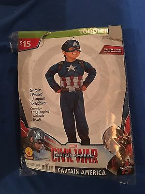 Halloween Costume Boy's Toddlers Captain America 2T Or 3T/4T