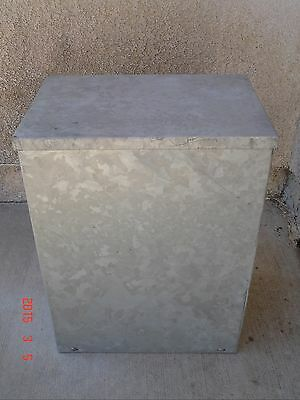 Hot Dipped Galvanized 16x12x8 Junction Box Enclosure Nema 3R - No knockouts New