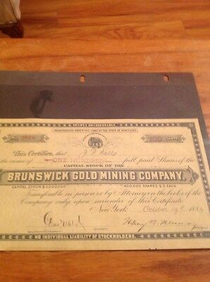 Mixed Lot of Antique Mining Stock Certificates - 7 Different Mining Stocks