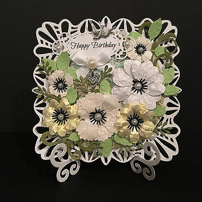 Handmade Birthday Card Mum Wife Sister Friend - 3D With Card Stand **Beautiful**