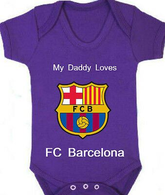 FC Barcelona Football/Soccer Club Baby Romper with Personal Custom Name