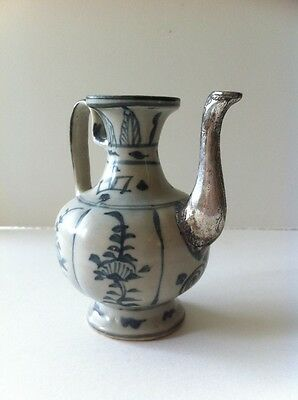 Chinese blue and white ewer probably early Ming
