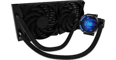 Coolermaster MasterLiquid Pro 240 CPU Cooler, 240mm Radiator, Dual Chambers
