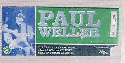 Paul Weller : Ticket Original!!!!!!  (Barcelona 1994) Spain