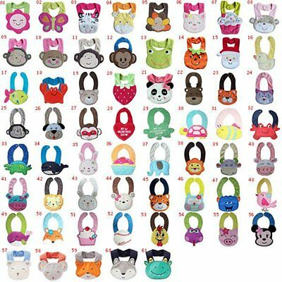 Kids Cotton Animals Saliva Towel Infant Baby Bibs Girl Boy Waterproof Lunch Bibs