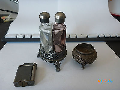 Pewter bowl and bottle holder must see