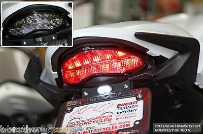 2014 2016 Ducati Monster 821 / 1200 Sequential Integrated Taillight Smoke