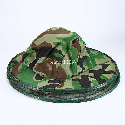 Camo Beekeeping Hat Head Face Protection Veil Mask Hat Bee Bug Insect Guard Acc