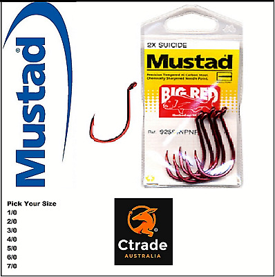 Mustad Big Red Snapper Hooks - pick your size -  1 pkt of Hooks !