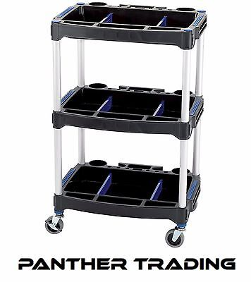 Draper 3 Tier Tool Storage Trolley Paddock Cart / Shelf Unit Workshop - 04612