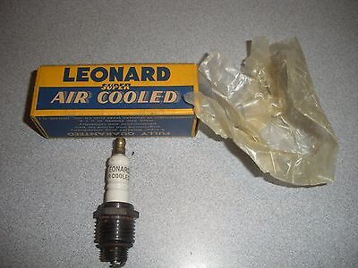 "Vintage Super Air Cooled Leonard ""14-E"" Spark Plug 14mm thread"