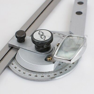 Bevel Protractor 0-360° Steel Universal Angle Square Finder Angular Dial Ruler