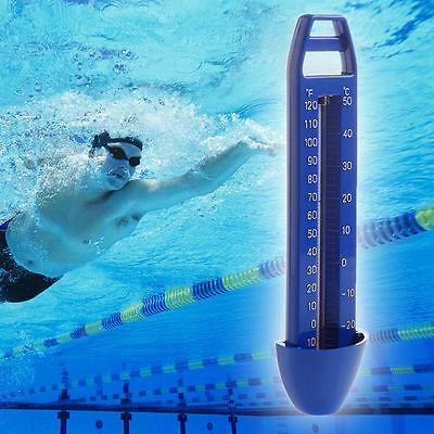 -20~120℉ & -30~50℃ Swimming Pool Spa Hot Tub Bath Temperature Thermometer Blue