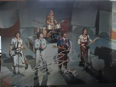 Les Mckeown Rare Signed  Limited Edition Bay City Rollers On Stage Photo