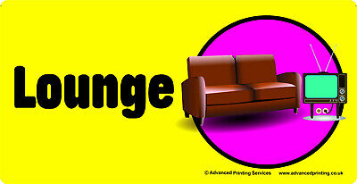 Self-adhesive signage for Dementia Alzheimers Partially Sighted - LOUNGE 171-08