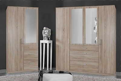 Qmax 'Chloe' Wardrobe Range. German Made Bedroom Furniture. Light Oak Finish.