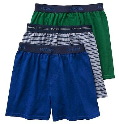 NEW boys HANES ULTIMATE 3-pack KNIT BOXERS tag-free ROOMIER size MEDIUM 10/12
