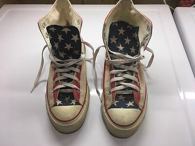 Vintage Converse All Star US Flag Hi Top Sneaker Shoes Size Men's 9.5