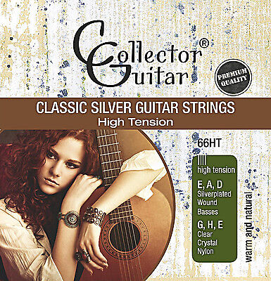 CollectorGuitar 66HT Konzertgitarren-Saiten Classic Silver Guitar Strings Nylon