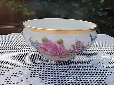 Vintage Carl Thieme ,Dresden hand painted floral bowl