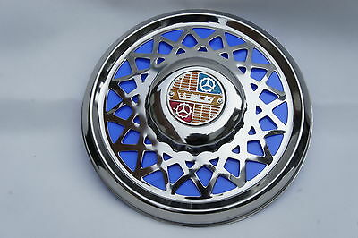 "VESPA Sprint Rally LVB VBC GL GS 10"" Chrome Spare Wheel Cover Trim Blue"