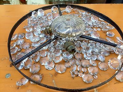 Spares Or Repair Crystal Chandelier Light Pendant Drops Architectural  Salvage