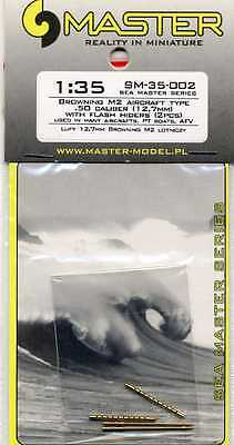 BROWNING M2 .50 Caliber (12,7mm) w/ Flash Hiders (2Pcs) 1/35 MASTER-MODEL